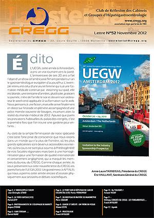 Lettre du CREGG n°52 - UEGW AMSTERDAM