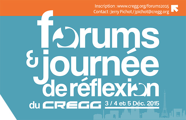 Forums du CREGG - 2015