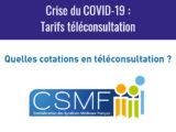 Crise du COVID-19 : Tarifs téléconsultation