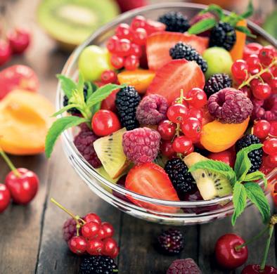 Quantité de fibres (en g) pour 100g de fruits frais