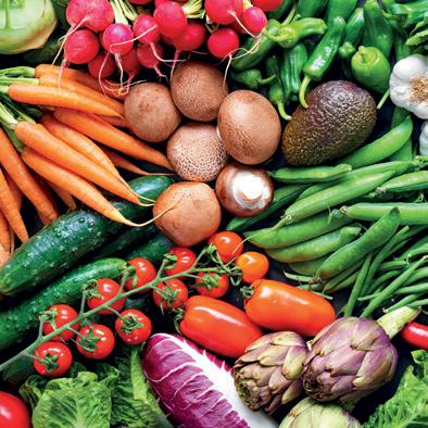 Quantité de fibres (en g) pour 100g de légumes